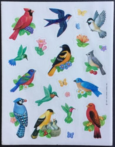 Birds Dated 1991 Vintage Hallmark Stickers
