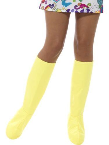 Donna Anni /'60 1960s 70 Costume Copristivali Go Giallo da Smiffys