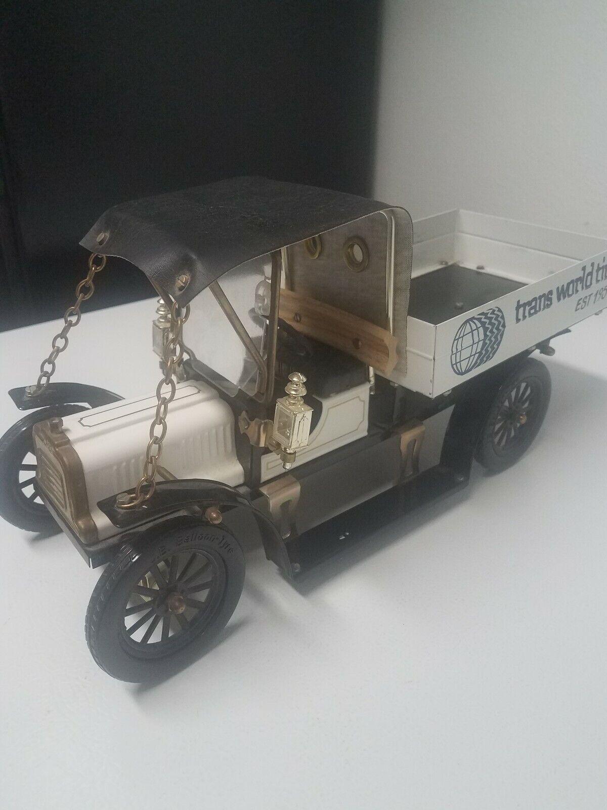 Rare Vintage jb Metal Toy Transworld Tire Truck
