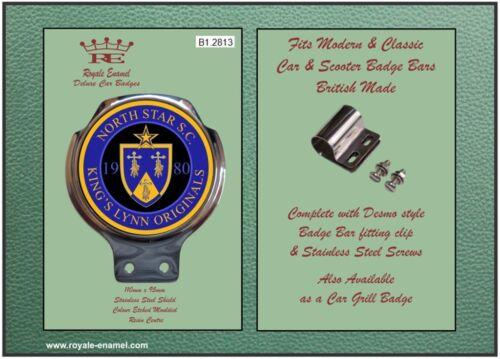 Fittings NORTH STAR SC KINGS LYNN ORIGINALS 2813 Royale Car Scooter Bar Badge