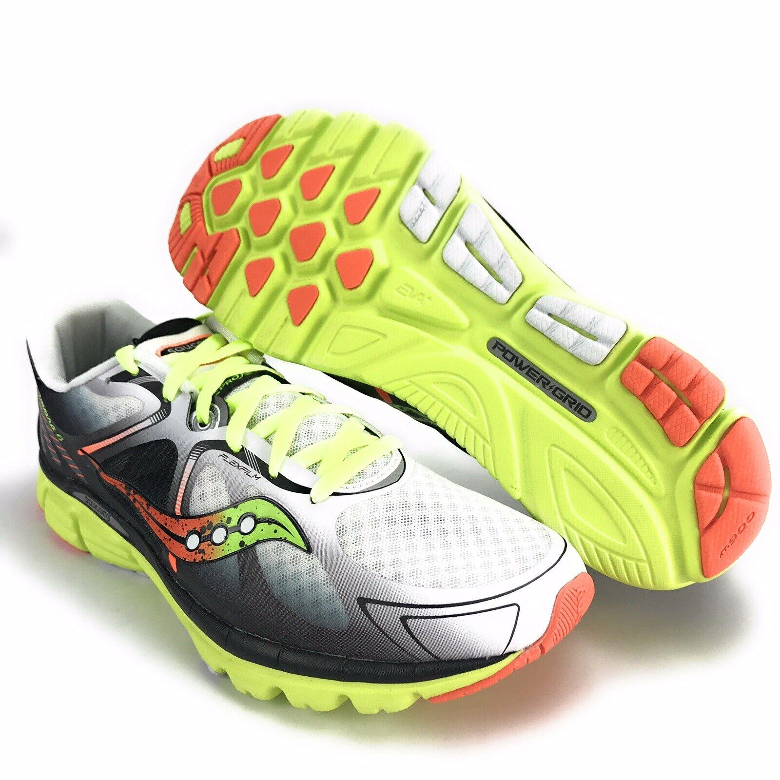 Saucony Men's Kinvara 6 White Citron orange Running shoes Size 14