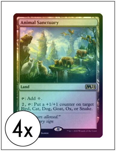 Core Set 2021 4x Foil Animal Sanctuary Magic the Gathering MTG
