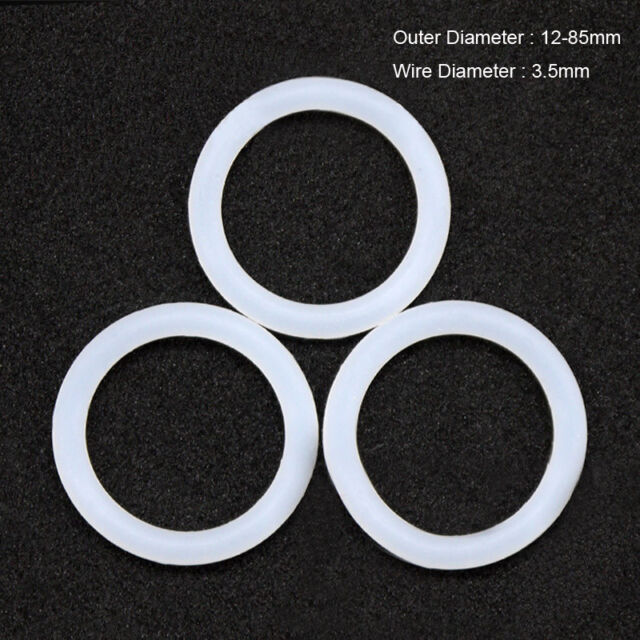 50pcs 2mm Red Food Grade Silicone HIGH TEMP Gasket O-Ring Seal OD 8-65mm