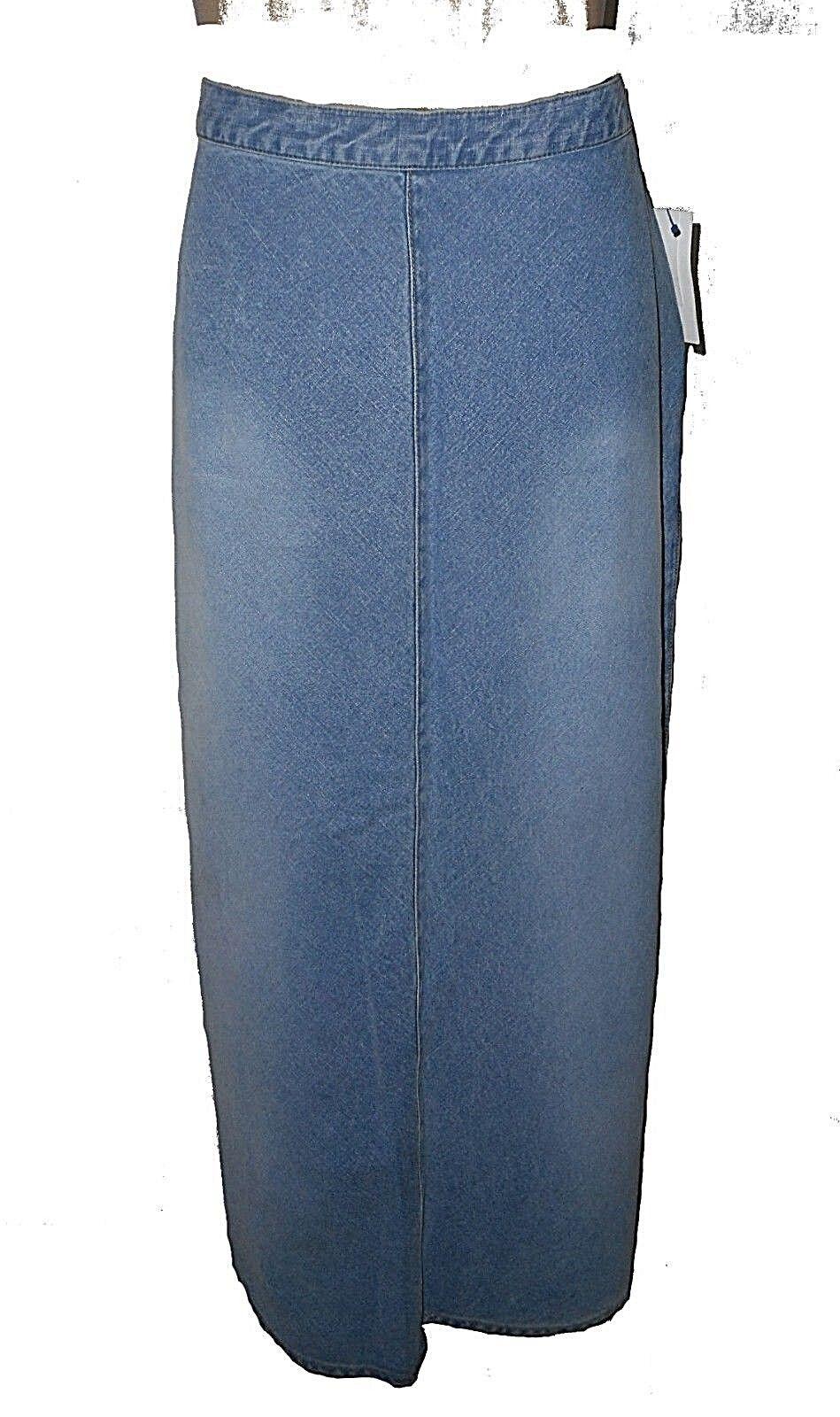New Skirt, Liz Claiborne Lizwear  Jeans, Denim Cotton Stretch Long MSRP- 70. 12P