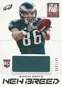 purchase cheap ead94 44c10 Details about 2013 13 Panini Elite Zach Ertz Jersey #/399 Philadelphia  Eagles Stanford