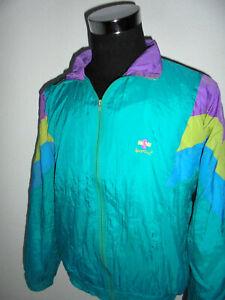 vintage-80-s-SPORTINO-Nylon-Jacke-Sportjacke-glanz-shiny-new-wave-oldschool-M-L