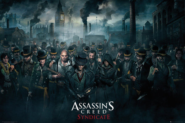 Assassin Creed Syndicate Poster 61x91cm Evie Jacob Frye For Sale