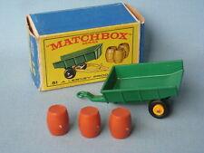 Lesney Matchbox 51 Farm Trailer ORANGE Barrels Pre-production Trial Model Rare