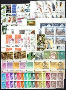 A135104-SPAIN-STAMPS-YEARS-1984-1986-MINT-MNH-MODERN-LOT-CV-180