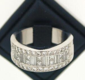 Platinum-Half-Eternity-Diamond-Ring-size-P-2-60-carats-approx-stunning