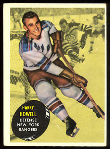 1961-62-TOPPS-HOCKEY-51-Harry-Howell-EX-N-Y-New-York-Rangers-card