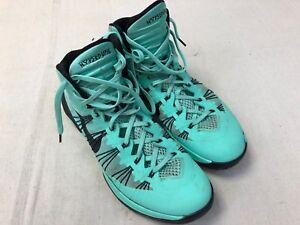 super popular 1cd8e 42d1a Image is loading Nike-Hyperdunk-Green-Glow-Black-Basketball-Shoes-Men-