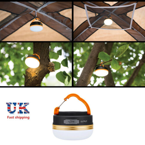 USB Rechargeable LED For Camping Tent Lantern Bright Night Light Lamp Outdoor UK