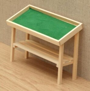1:12 Dolls House Stall table - Bare wood