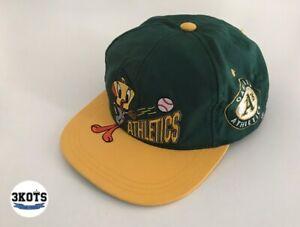 Oakland-Athletics-Tweety-Looney-Tunes-90s-Boys-MLB-Snapback-Hat-Cap-Nutmeg-Mills