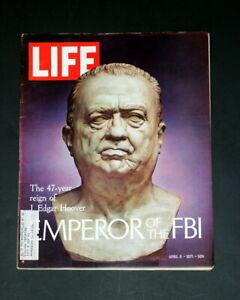 LIFE MAGAZINE APRIL 9 1971 J EDGAR HOOVER