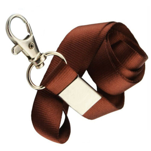 10pcs Polyester Straps Lanyard ID Badge Holders Mobile Neck Key Chain Clip Strap