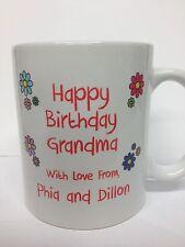 Personalized Happy Birthday Coffee Mug with Custom Message/Photo (FREE SHIPPING)