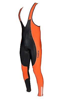 ZIMCO Cycling Bib Tights Thermal Super Roubaix Bib Tight  Padded Pant Orange 154