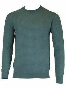 GANT-Men-039-s-Ink-Blue-O1-Cotton-Texture-Crew-8020002-Size-Medium-NWT