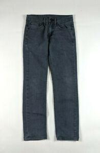 Levis-511-Slim-Fit-Mens-Size-28-X-30-Black-Wash-Denim-Jeans