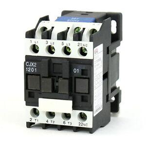 Cjx2 1201 Ac Contactor 380v 50hz Coil 12a 3 Phase 3 Pole 1nc Ebay