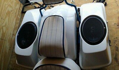 Harley Davidson SaddleBag Bagger 6x9 Speaker Lids Flh Touring Fiberglass