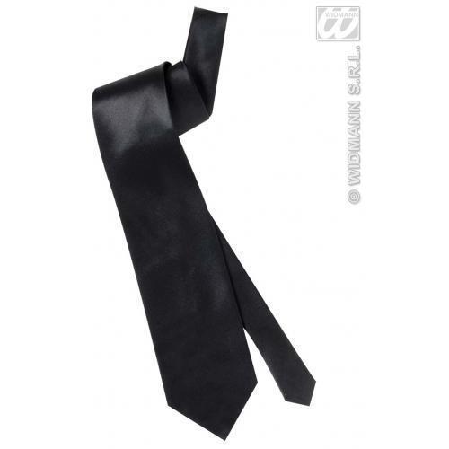 Satin noir cravate James Bond accessoire robe fantaisie prop