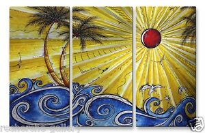 Ocean Fury Abstract Painting on Metal by Megan Duncanson Modern Wall Sculpture