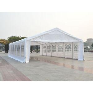 HEAVY DUTY 39 x 20' Removable Party Tent Canopy Gazebo Pavilion Shelter White