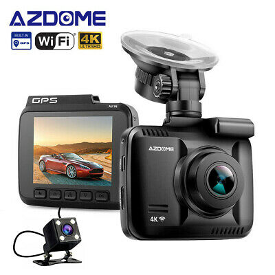 AZDOME Car Dash cam GS63H 4K 1080P WiFi DVR GPS Night Vision + VGA Rear Camera