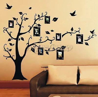 DIY Home Family Decor Photo Black Tree Removable Decal Wall Sticker Vinyl Art ##
