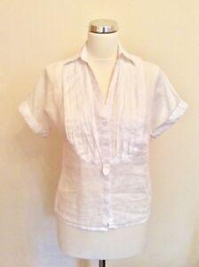 Exchange Shirt White Short Size Linen S Sleeve Armani PCdqnw8P