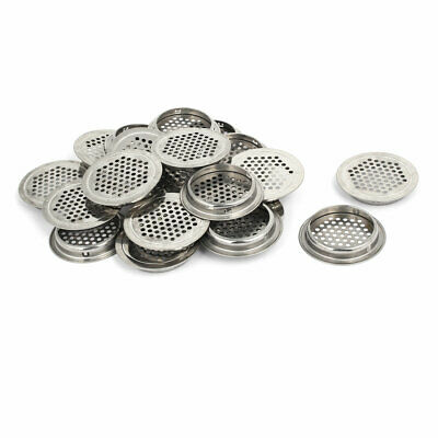 35mm DGZZI Air Vent Louver 10PCS 304 Stainless Steel Circular Flat Surface Vent Mesh Hole Air Vent Louver for Cabinet Bathroom Office Kitchen Ventilation Mounted Dia