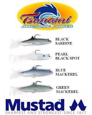 "5pk Tsunami Tazer Sandeel Bass Lures  4/"""