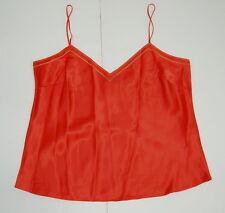 J.Crew Camisole Cami Silk PL L Petite Tank Top Orange Casual Solid Sleeveless