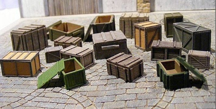 Reality In Scale 35163 Crates & Boxes super set 1 35 scale resin diorama access.