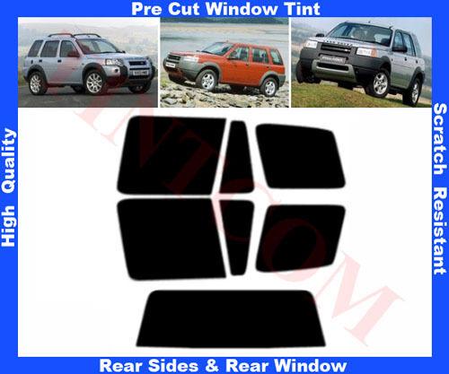 Pre Cut Window Tint Land Rover Freelander 98-07 Rear Window/&Rear Sides Any Shade