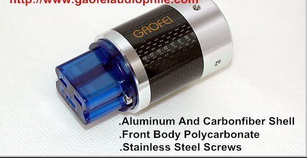 1PC AC Power Plug Carbon Fiber HIFI Gf-CFBT20A Rhodium Plated 20A IEC Female