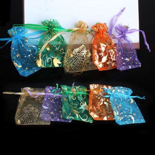 50pcs Mixed Color Mini Gift Box Christmas Organza Bag Candy Box Jewelry Pendant