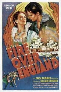 FIRE-OVER-ENGLAND-1937-Adventure-History-Movie-Film-PC-iPhone-INSTANT-WATCH