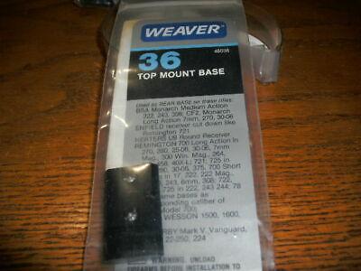 weaver 48036 top mount base 36 gloss remington 700 78 725 weatherby mark v 240