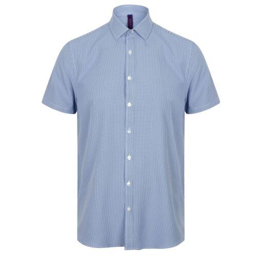 PC2955 Henbury Mens Gingham Short Sleeve Shirt