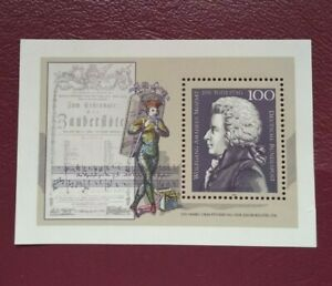 Alemania Federal año 1991 Bicentenario muerte de Wolfgang Amadeus Nº BF25 MNH