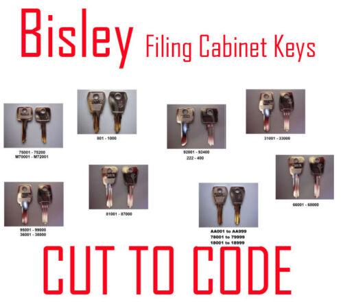 Keys Professionally Cut Bisley Replacement Filing Cabinet Keys Cut to Code