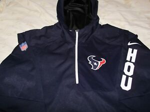a3fccdd593f10 NFL Houston Texans Nike Shield Alpha Fly Rush 1 4 Zip Hoodie Jacket ...