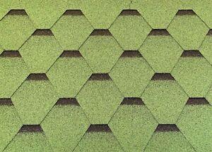 Dachschindeln-Hexagonal-Dreieck-Form-15-m-Grun-5-Pakete-Schindeln-Dachpappe