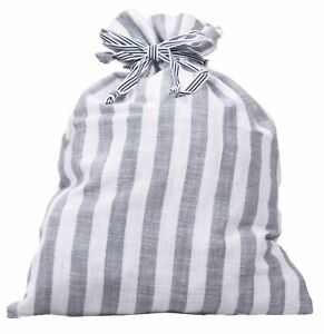 BNWOT-Cotton-Stripe-Multipurpose-Pouch-Bag-in-Navy-Blue-or-Grey
