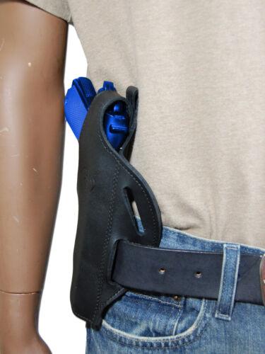 New Barsony Black Leather Pancake Gun Holster for Sig-Sauer Full Size 9mm 40 45