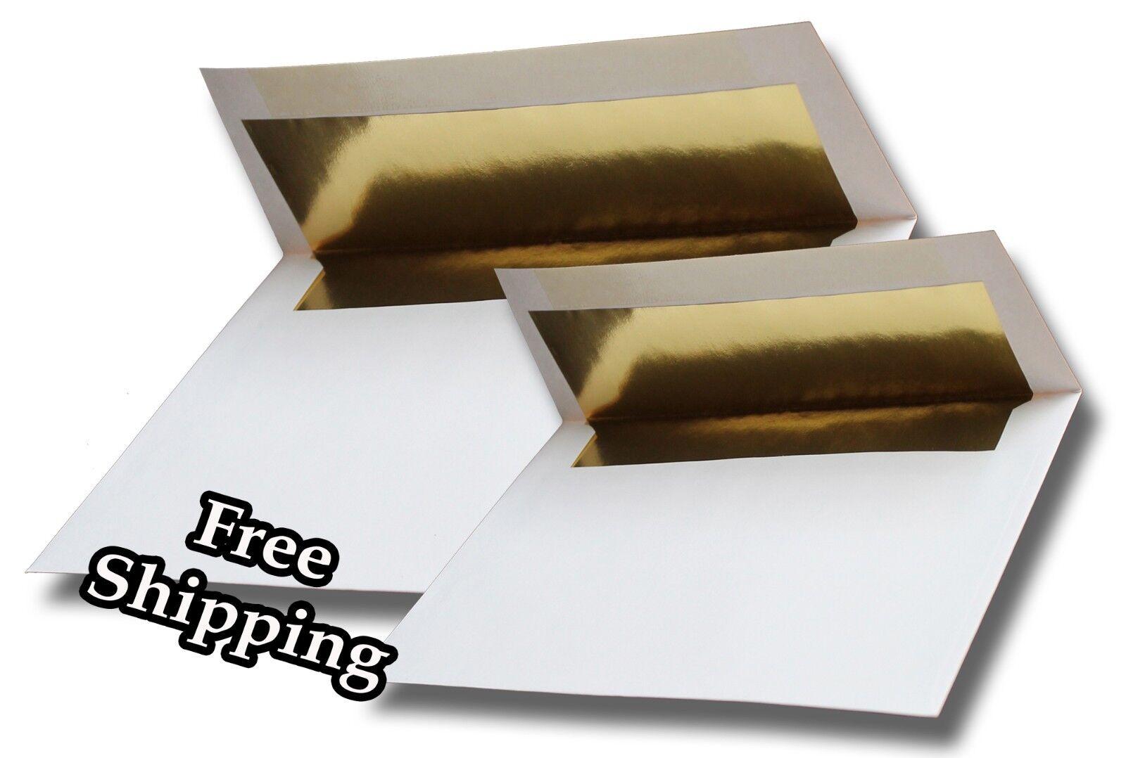 Gold Foil Lined 70lb Envelopes fr Response Invitation Announcement Wedding A2 A7
